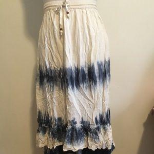 Rip curl beach tie dye high-low skirt